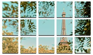 Eiffel Tower – 15 Tile Grid – 8×8″ Art Photos