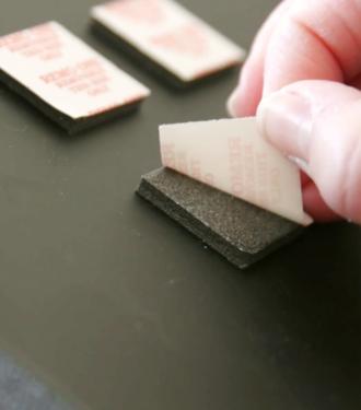 removing adhesive