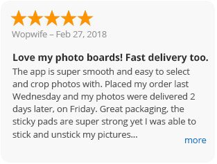 Picture review - Love my photo boards! Fast delivery too